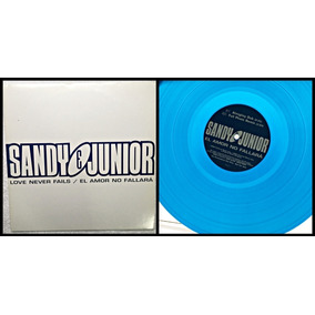 Vinil Lp Sandy E Junior Love Never Fails / Duplo / Azul Raro