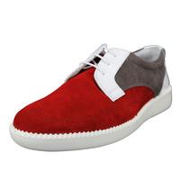 Sneakers Emporio Armani P/hombre Gamuza Rojo 7 Usa