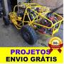 Projeto De Gaiola Cross Kart Trailer Buggy Frete Grátis