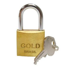 Cadeado Anti Furto Para Casas Portões Corrente 30 12pç Gold