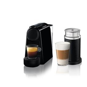 Nespresso Essenza Negra + Aeroccino + Kit De 14 Capsulas