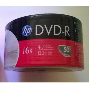 Torre De 50 Dvd-r Virgen Hp 4.7gb 16x