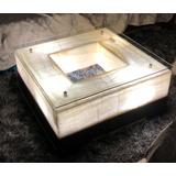 Mesa Centro Minimalista Onix Madera Marmol Moderno $9700