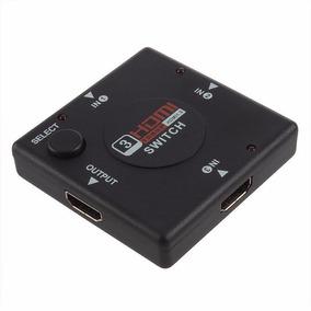 Switch Multiplicador Hdmi Splitter 3 Entradas 1 Sal Full Hd
