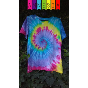 Remera Rainbow - M - Amnesia Gesell / Hippie Batik Tie Dye