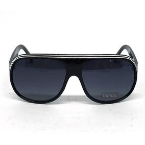 6bd56e385b1c1 Oculos Oval Branco De Sol Diesel - Óculos De Sol no Mercado Livre Brasil