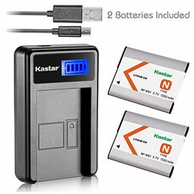 Kastar Battery (x2) & Lcd Slim Usb Charger For Sony Np-bn1 N