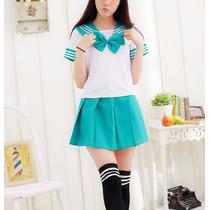 Uniforme Escolar Marinero Anime Cosplay Disfraz