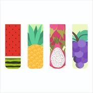 Kit 4 Marcadores De Páginas Magnéticos Exclusivos Frutas