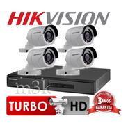Kit Seguridad Hikvision Full Hd Dvr 4 + 4 Camaras Infrarrojas Bullet Exterior O Domo Interior + Ip Celular Cctv P2p