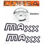 Emblema Corsa Sedan + Maxx Preto + Gravata - 2003 À 2007
