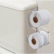 Suporte Duplo Porta Papel Higiênico Caixa Descarga Acoplada