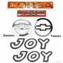 Kit Emblemas Corsa Sedan Vhc + Joy Preto - 2003 À 2007