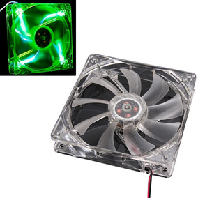 Fan Cooler Extractor Ventilador 12cm 120mm Led Verde Pc Case