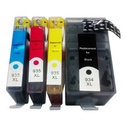 Kit 4 Cartucho Compativel Hp 934xl 935xl Officejet 6230 6830