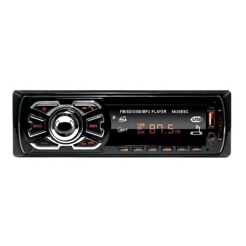 Som automotivo First Option 6630BSC com USB, bluetooth e leitor de cartão SD
