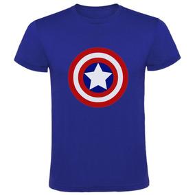 Remeras Capitan America Marvel Comic Captain Entra Aqui