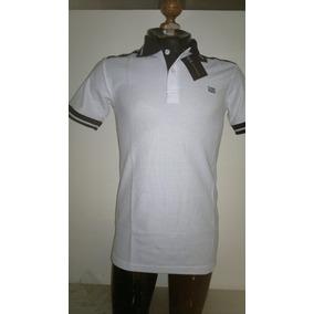 Camisa Playera Tipo Polo Armani Exchange Color Blanco Negro