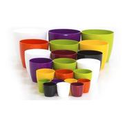 Pack X 3 Macetas Redonda Plastico Premium Nro 18 Colores