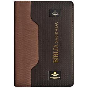Bíblia Sagrada Índice - Marrom - Couro Luxo