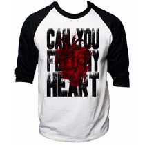 Camisa Raglan 3/4 Bring Me The Horizon Can You Feel My Heart