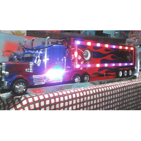 Trailer Escala 1:16 Reproduce Mp3 Radiocontrol Luces En Caja