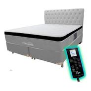 Colchão Magnético Queen Bio Massageador + Pillow Visco + Box