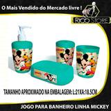 Sabonete Jogo Banheiro Mickey Conjunto Porta Promoção Banho
