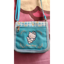 Limpia De Closet Bolsita Cartera Hello Kitty Azul Original