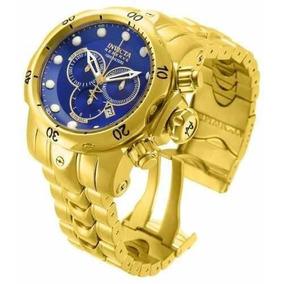 Relógio Invicta 14504 Azul Reserve Venom Gold Original