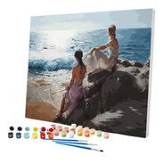 Pintura Numerada Ninfas Na Praia
