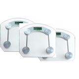 Kit 03 Balança Digital Vidro Temperado Banheiro Academia