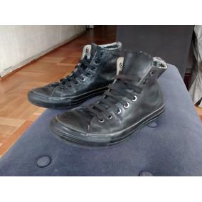 Zapatillas Converse Cuero Negras 8 1/2 Chuck Taylor