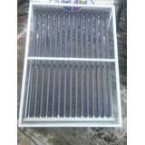 Base Antigranizo Para Calentadores Solares;10 Tubos Blanca