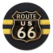 Placa Cuadro Decorativo Redondo 29cm Ruta 66 Route 66