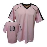 Camisa Camiseta Futebol Futsal Volei -rosa preto-arezzo a7038e568c5da