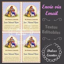 Estampitas Primera Comunión Editables E Imprimibles N° 1