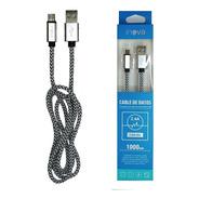 Cable Inova V8 1mt Mallado Usb Flexible Cab065 Carga Celular