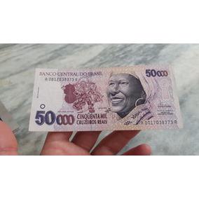 Cédula De 50 Mil Cruzeiros Reais Baiana