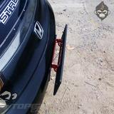 Porta Placa Reclinable No Papeleta Auto Tuning Rojo Azul
