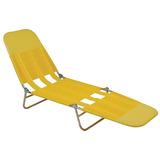 Cadeira Espreguiçadeira Adulto Pvc Praia Piscina Dobrável