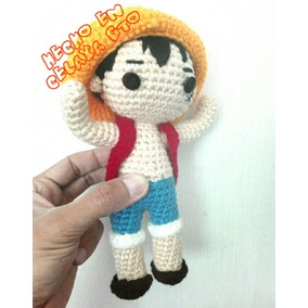 Monkey D Luffy One Piece Tejido Amigurumi Crochet Peluche