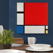 Cuadros-piet Mondrian 18,decorativo,75x75cm-16k Resolución