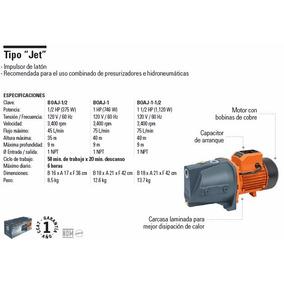 Bombas Hidroneumáticas Tipo Jet 1/2hp