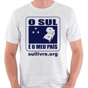 Camiseta O Sul É O Meu País Camisa Blusa Movimento Branca