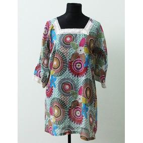 Vestido Camisola Coas Fresco Hippie Chic - Envios Sin Uso