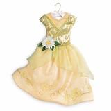 Vestido Fantasia Princesa Tiana Disney Oficial Tam 9/10 Anos