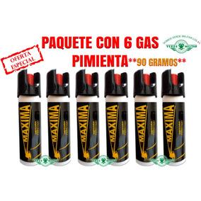 Gas Pimienta Lacrimogeno Paquete 6pzs Defensa Personal Sos