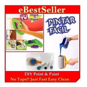 Kit Pintar Facil + Point Paint Pad Pintura Parede Casa