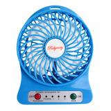 Ventilador Mini Portatil Recargable Usb Bateria Lampara Led